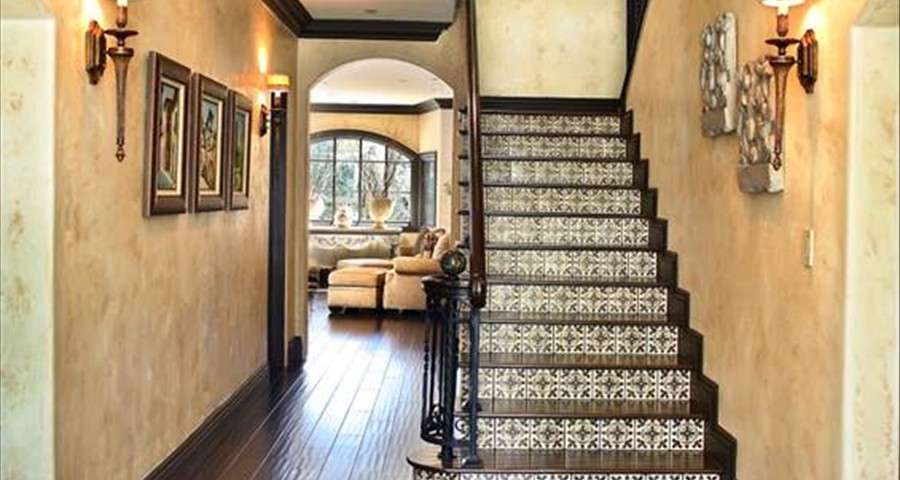 Traditional style hallway